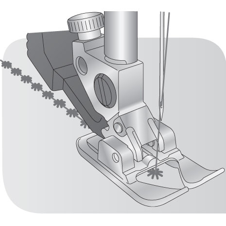 Sapatilha Aberta para Pontos Decorativos para sistema IDT? - Original PFAFF