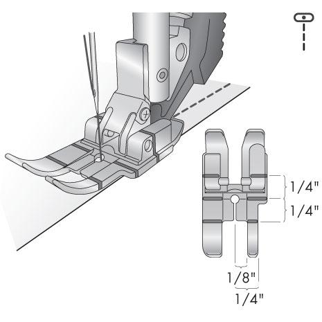 Sapatilha de 1/4 de Polegada para sistema IDT?- Original PFAFF