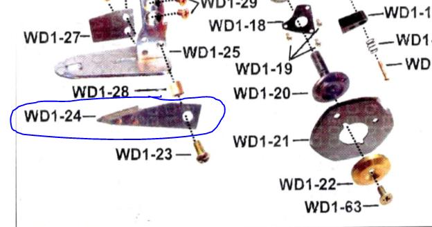 Vídea W-23 para maq. Bananinha WD-1 2 Polegadas