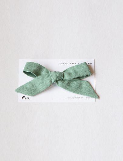 Laço Cabelo Verde Oliva