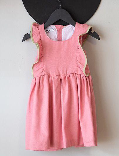 Vestido Bailarina Rosa Verde
