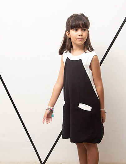 Vestido Bicor preto off