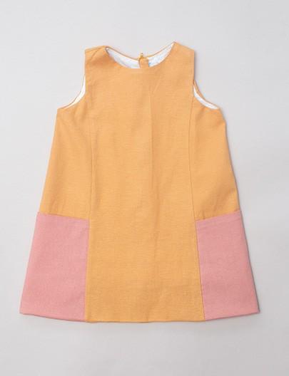 Vestido bolsão Solar coral