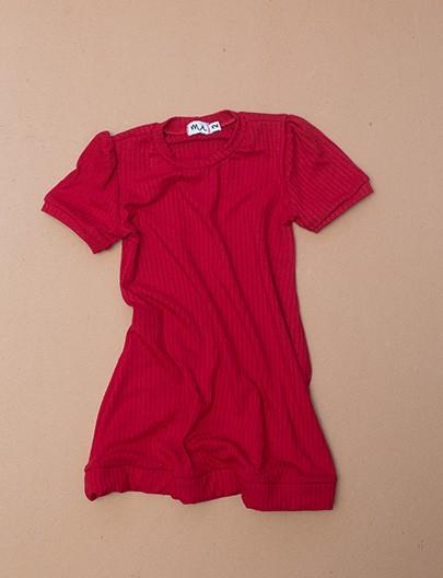 Vestido Canelado vermelho