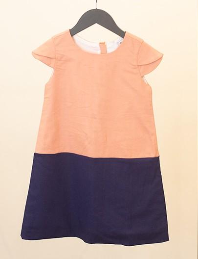 vestido cítrico coral marinho