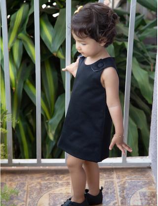 Vestido Overall preto