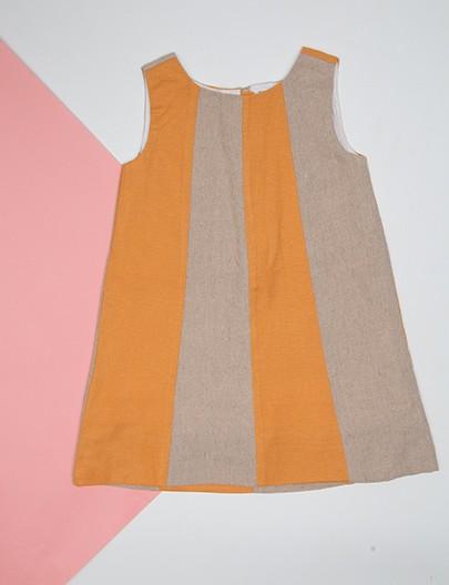 Vestido Recorte Solar Cru