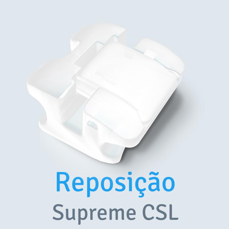 Reposição Bráquete Cerâmico Autoligado Supreme CSL MBT Slot 0,022