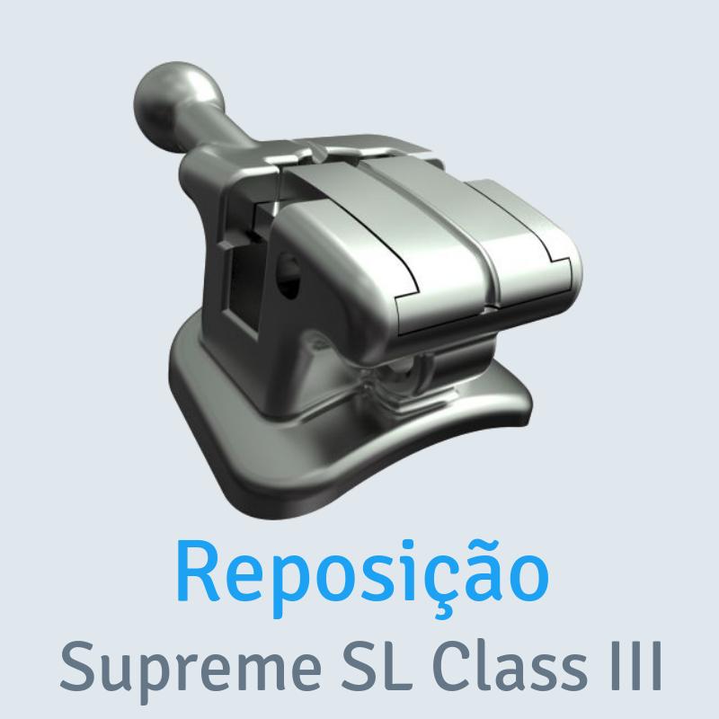 Reposição Bráquete Metálico Autoligado Passivo Supreme SL Classe III Slot 0,022
