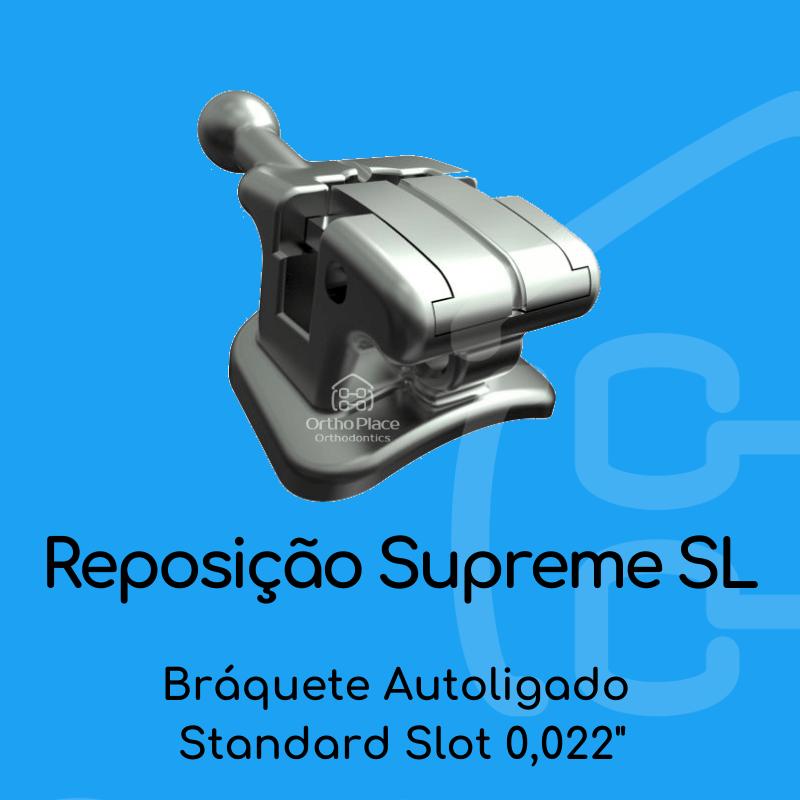 Reposição Bráquete Metálico Autoligado Passivo Supreme SL Standard Slot 0,022