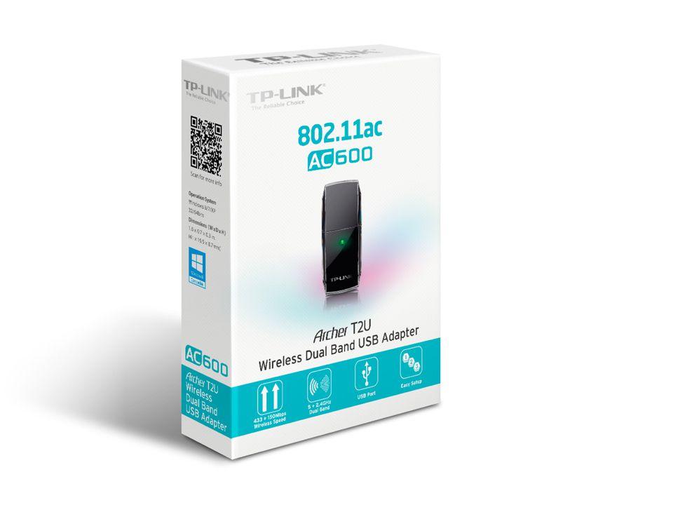 ADAPTADOR USB TP-LINK WIRELESS AC600 ARCHER T2U DUAL BAND