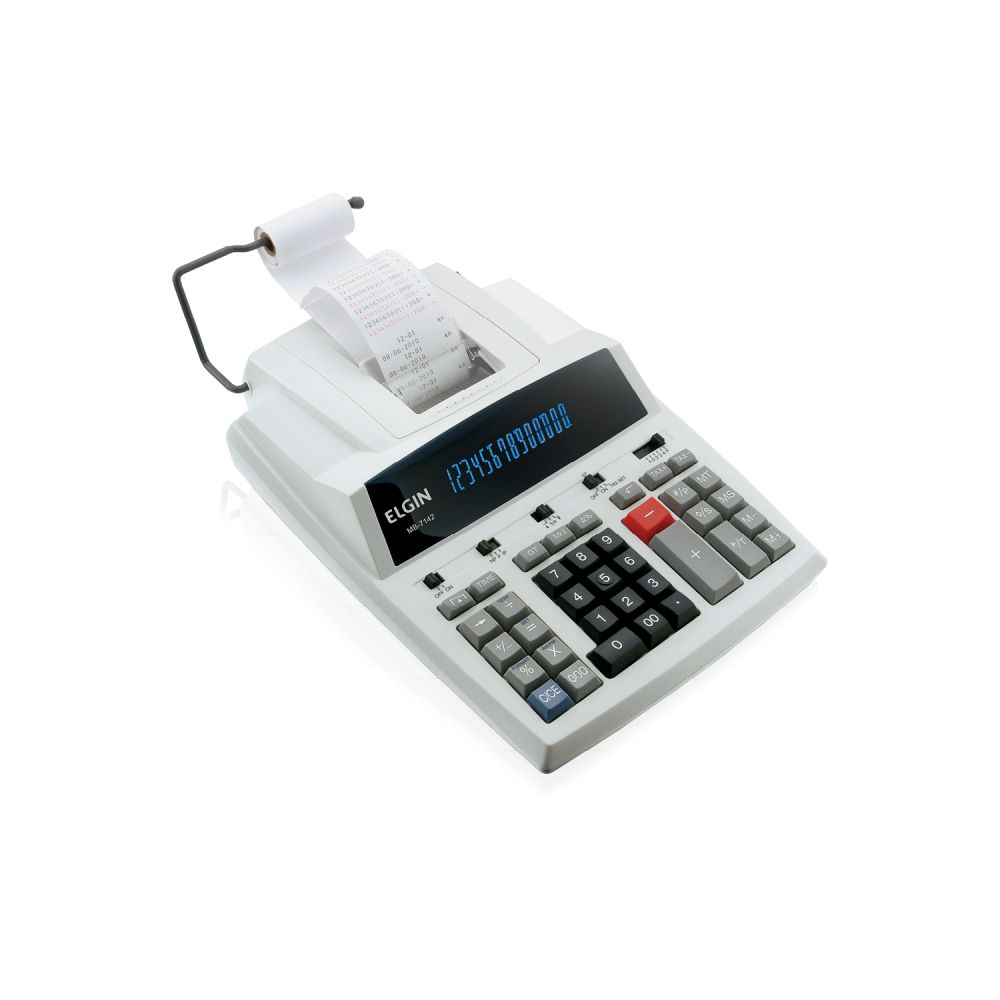 CALCULADORA COM BOBINA ELGIN MB7142 14 DÍGITOS