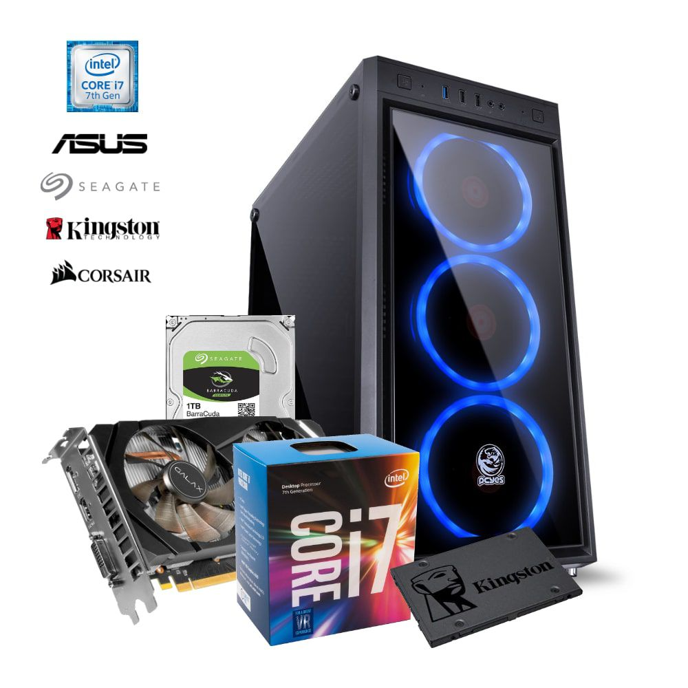 Computador HIGH i7-8700, RTX 2060, RAM 16GB, HD 1TB + SDD 120GB