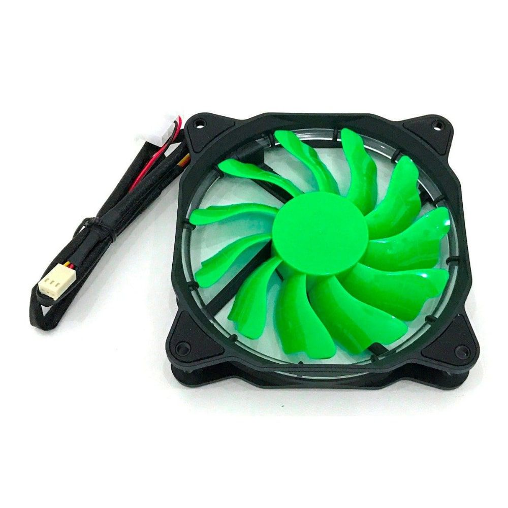 COOLER PARA GABINETE DEX 120X120MM DX-12F VERDE