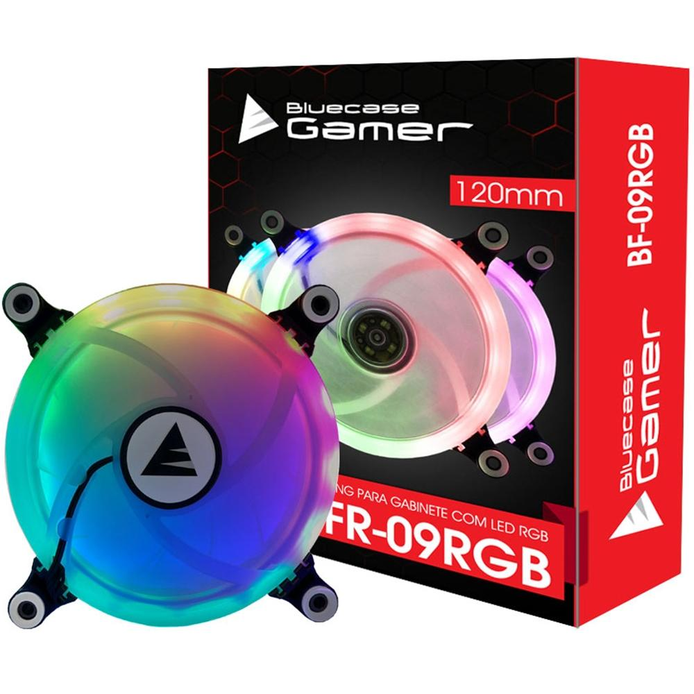 COOLER PARA GABINETE RBG RING BLUECASE 120X120MM BFR-09RGB