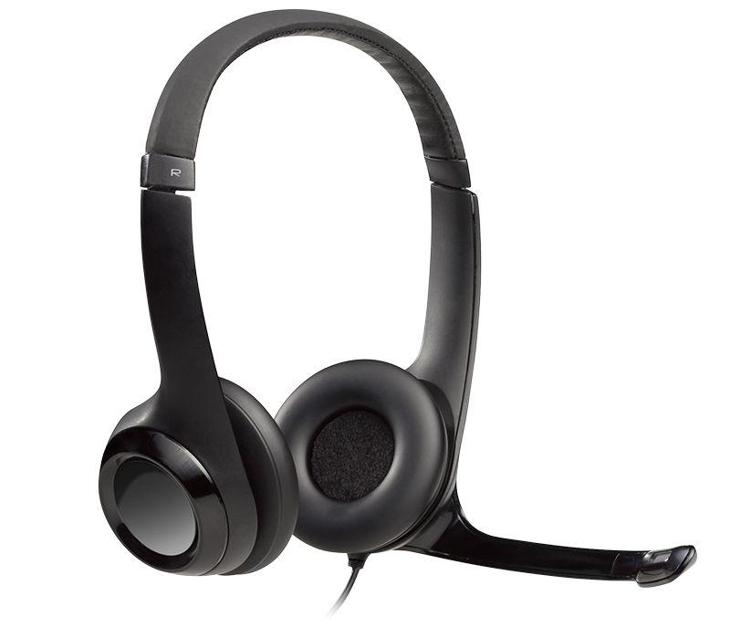 FONE HEADSET COM MICROFONE LOGITECH H390 CLEAR CHAT COMFORT USB 981-000014