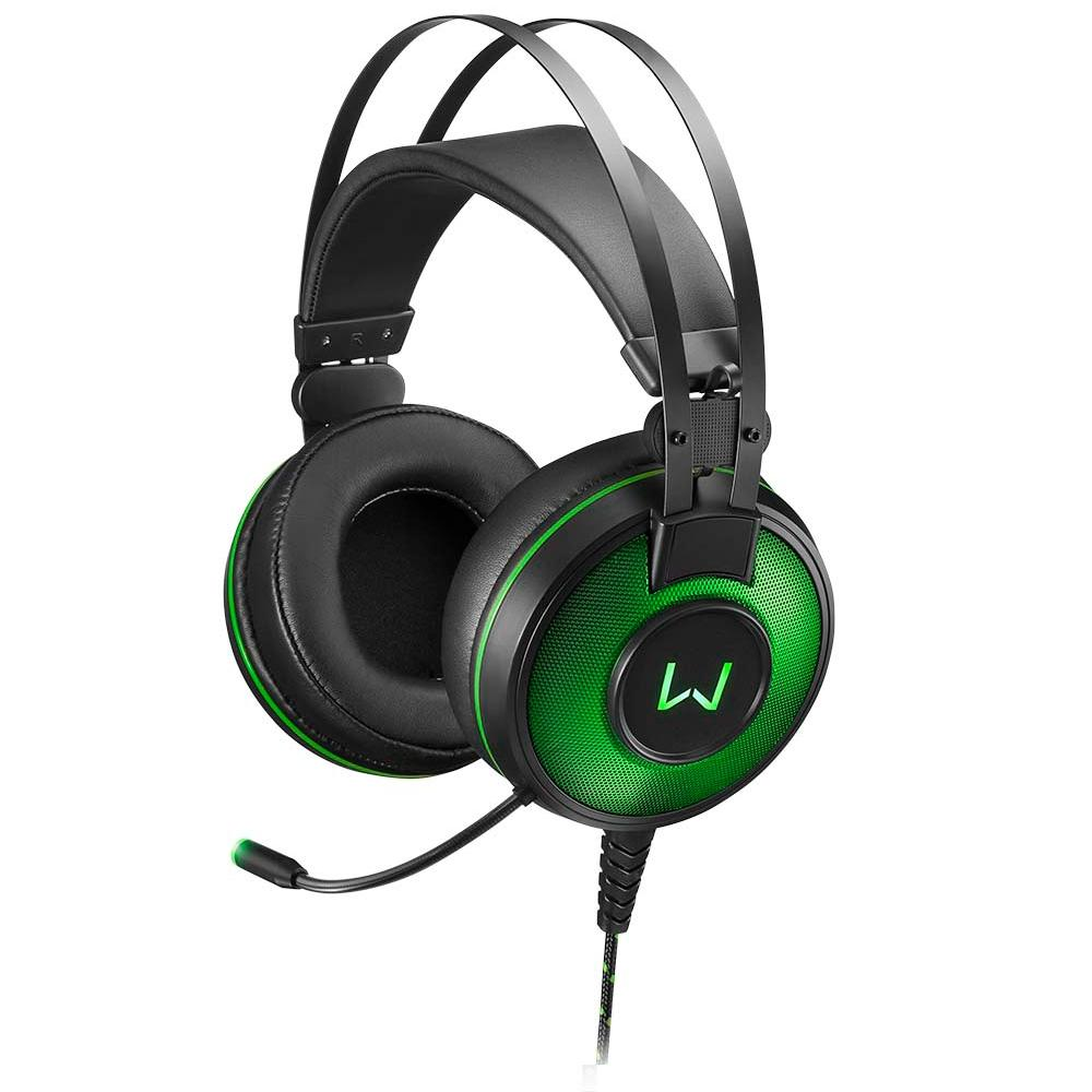 FONE HEADSET GAMER MULTILASER WARRIOR RAIKO 7.1 LED VERDE PH259