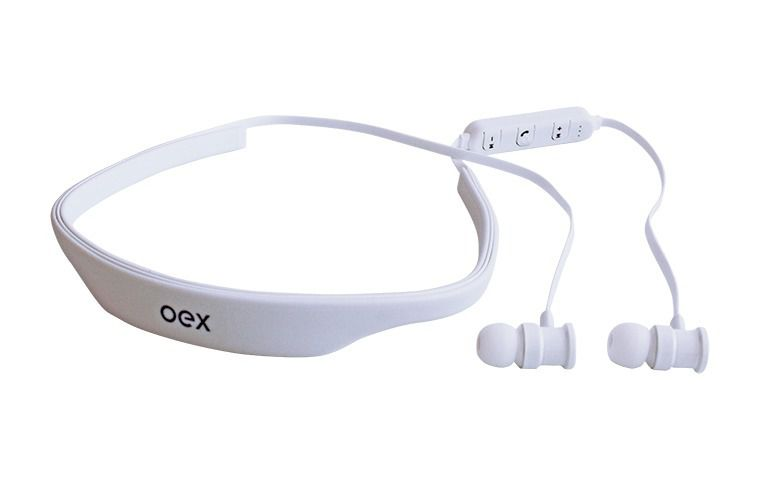 FONE HEADSET OEX LIVE HS302 BLUETOOTH BRANCO