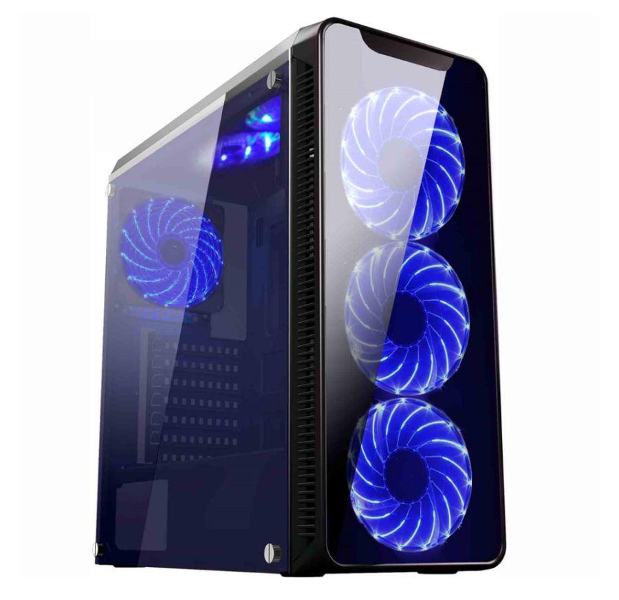 GABINETE K-MEX GAMING INFINITY  CG-02G8 SEM FONTE C/ 1 USB 3.0+2 USB 2.0 +3 FANC/15 LED