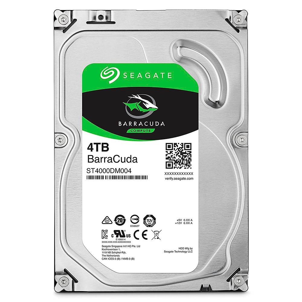 HD INTERNO SEAGATE 4TB BARRACUDA  SATA III 64MB ST4000DM004