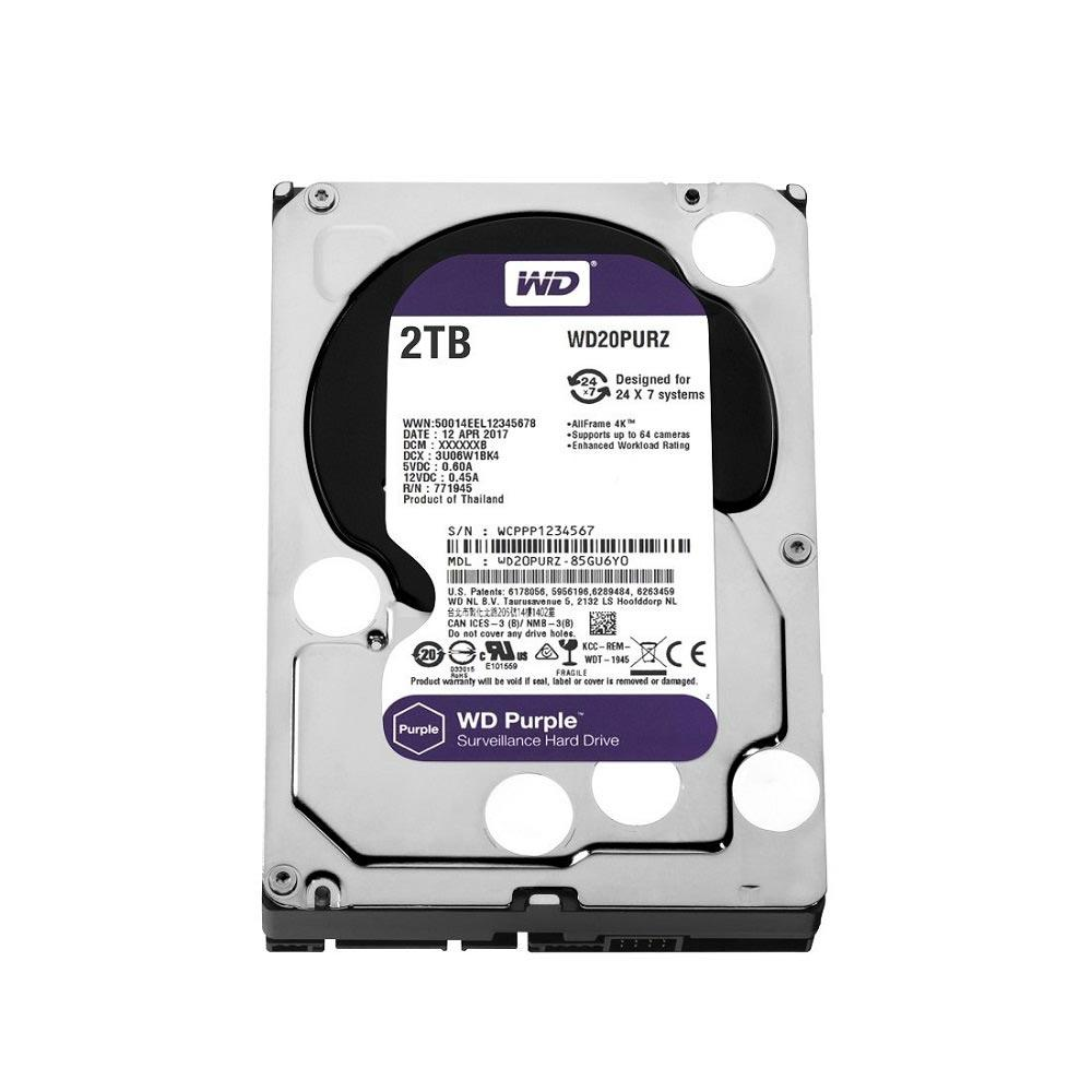 HD INTERNO WESTERN DIGITAL PURPLE 2TB SATA III 5400RPM WD20PURZ