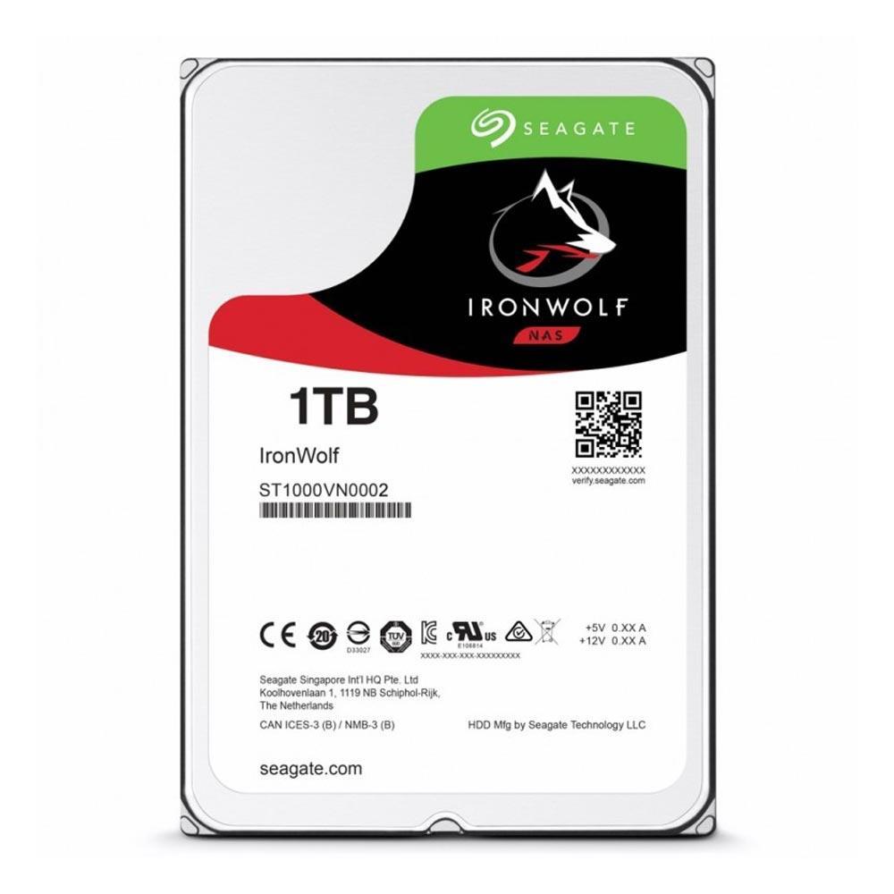 HD NAS SEAGATE 1TB SATA 3,5´ IRONWOLF 5400RPM 64MB CACHE SATA 6.0GB/S - ST1000VN002