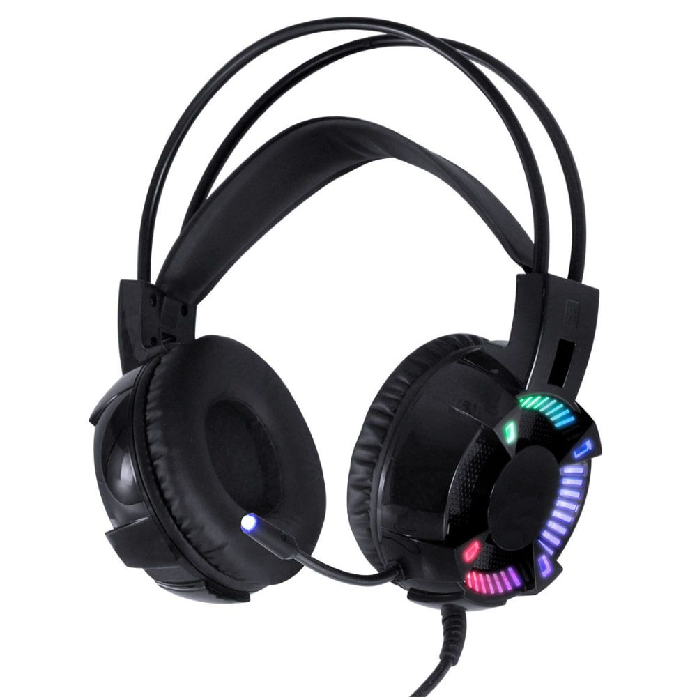 HEADSET GAMER VINIK VX GAMING ENYA AUDIO 7.1 LED RGB ESTÁTICO USB, MICROFONE FLEXÍVEL COM SOFTWARE DE ÁUDIO - GH400