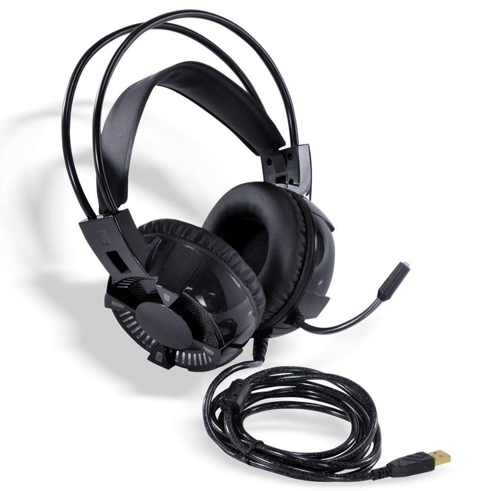 HEADSET GAMER VINIK VX GAMING ENYA AUDIO 7.1 LED RGB ESTÁTICO USB, MICROFONE FLEXÍVEL COM SOFTWARE DE ÁUDIO - GH400