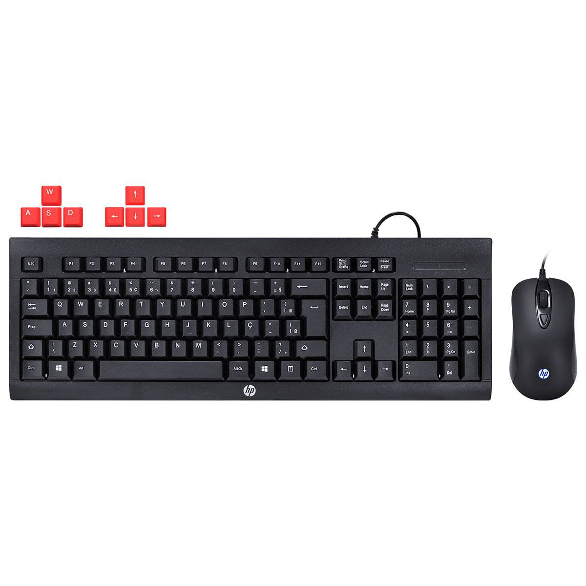 KIT TECLADO E MOUSE HP GAMER KM100 BLACK