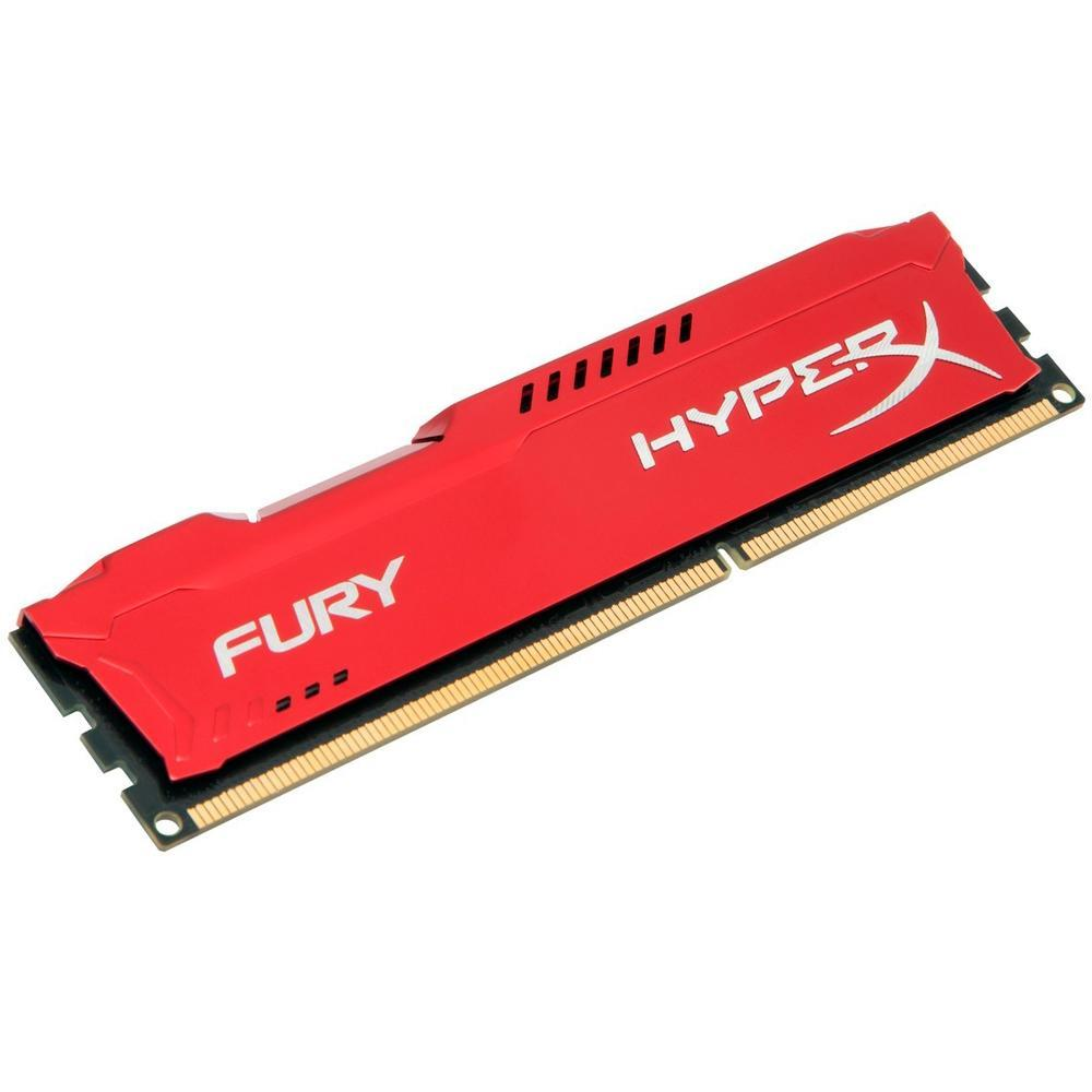 MEMORIA DESKTOP KINGSTON 4GB HYPERX FURY DDR3 1600MHZ VERMELHA HX3316C10FR/4