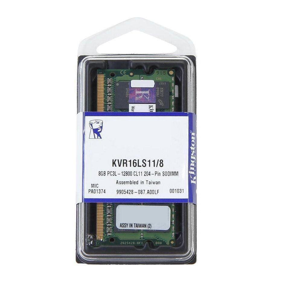 MEMORIA NOTEBOOK KINGSTON 8GB DDR3 1600MHZ KVR16LS11/8 1.35 BAIXA VOLTAGEM