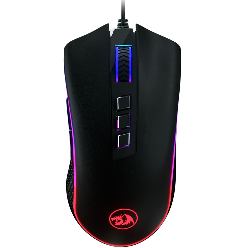 MOUSE GAMER REDRAGON KING COBRA PRETO LED RGB M711 FPS
