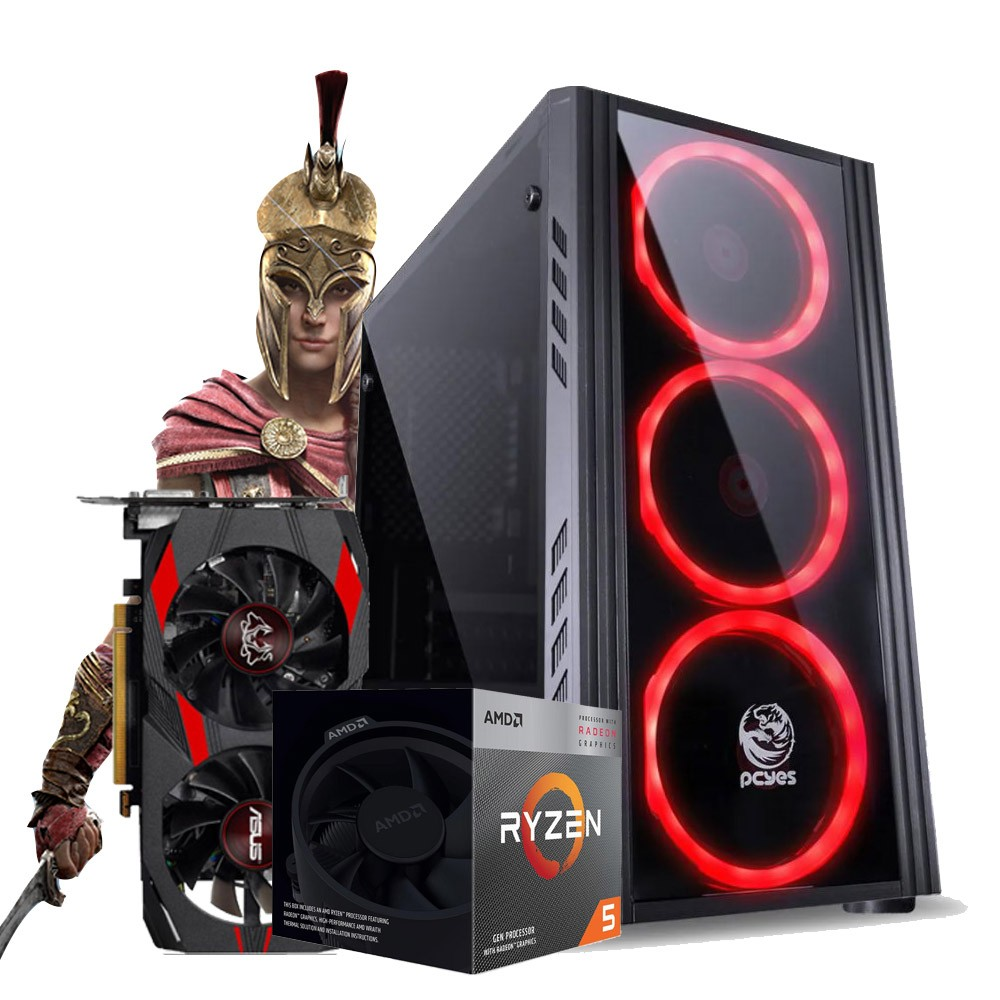 PC GAMER ADVANCED Ryzen 5 3400G + PLACA MAE ASUS PRIME + 8GB de Ram + Placa de video GTX 1050ti 4GB + HD 1TB + SSD 240