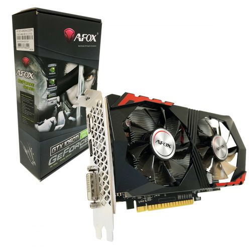 PLACA DE VIDEO AFOX GTX1050TI 4GB  DDR5 128 BITS AF1050TI-4096D5H2