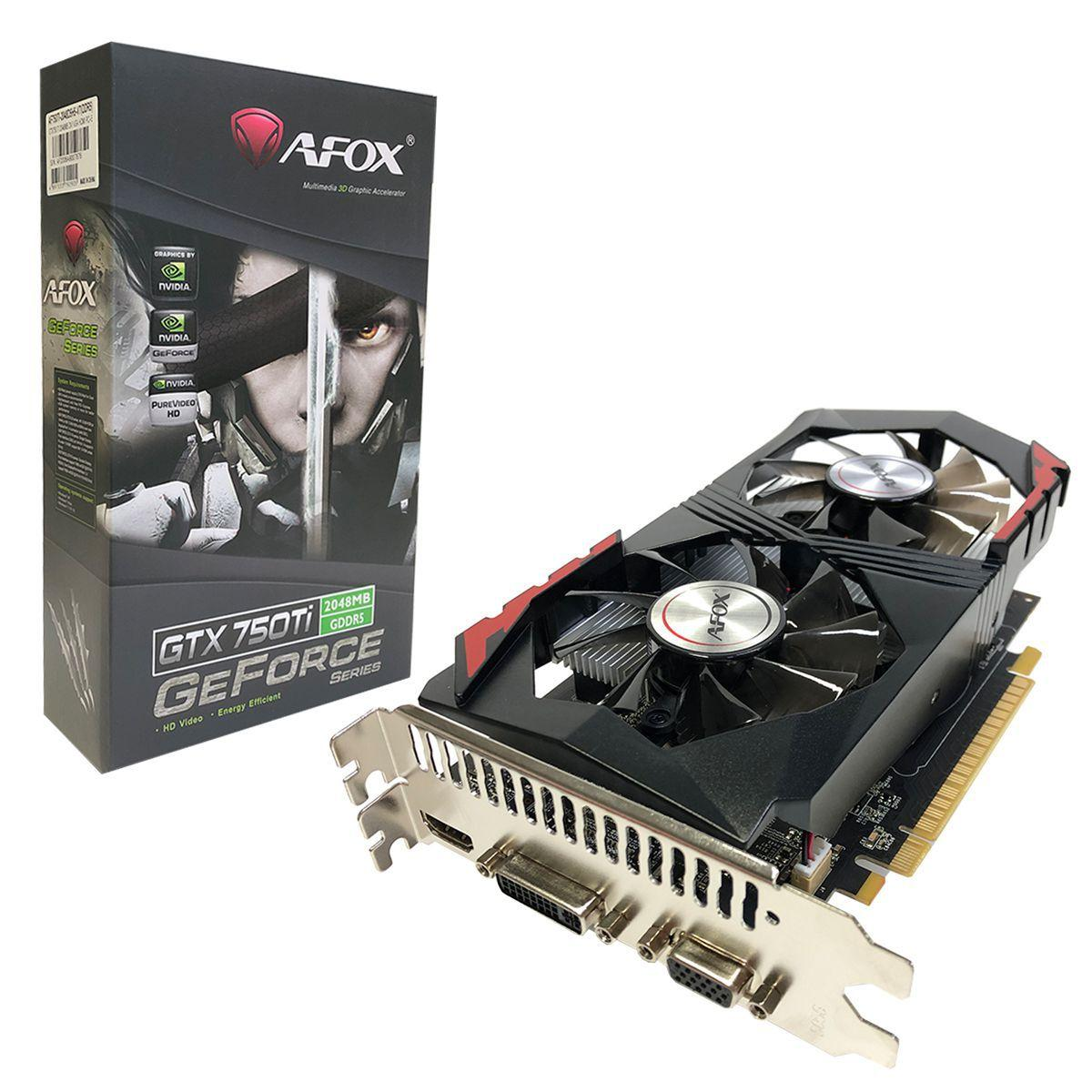 PLACA DE VIDEO AFOX GTX750TI 2GB  GDDR5  AF750TI-2048D5H5-V7