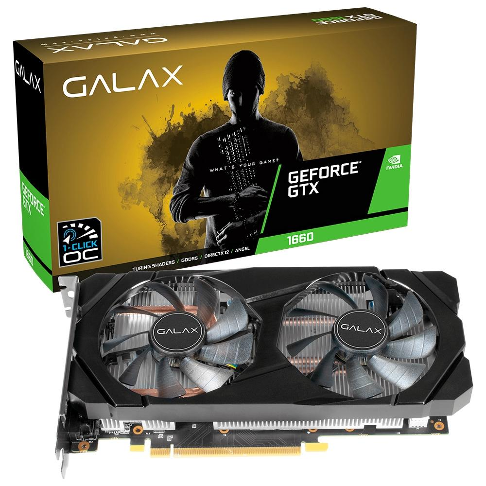 PLACA DE VIDEO GALAX GTX 1660 6GB GDDR5 192BITS 60SRH7DSY91C
