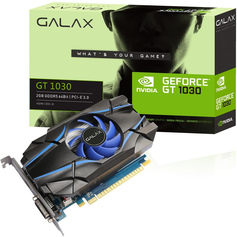 PLACA DE VIDEO GALAXY GT 1030 2GB DDR5 64BITS 30NPH4HVQ4ST
