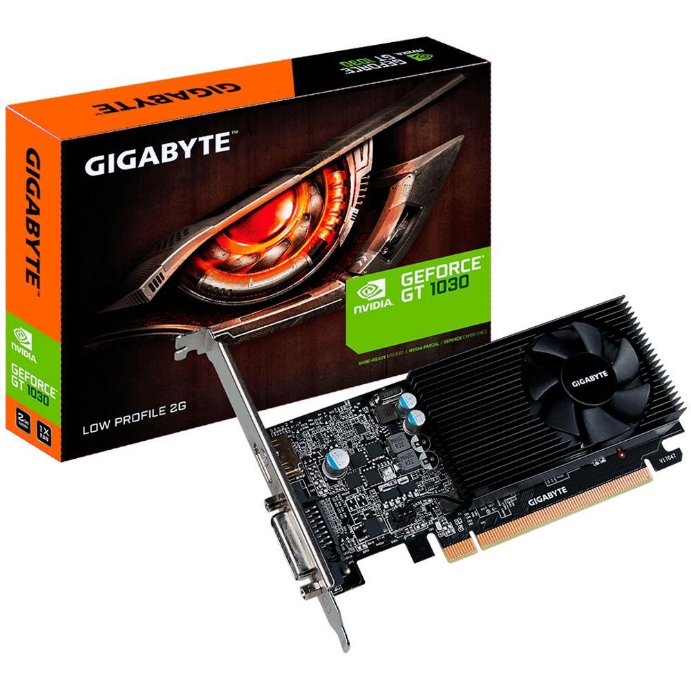 PLACA DE VIDEO GIGABYTE GT1030 2GB GDDR5 PERFIL BAIXO GV-N1030D5-2GL