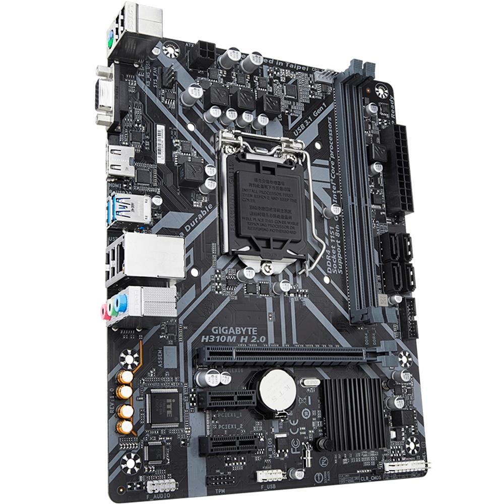 PLACA MAE GIGABYTE H310M H 2.0 1151 DDR4 8º GERAÇÃO