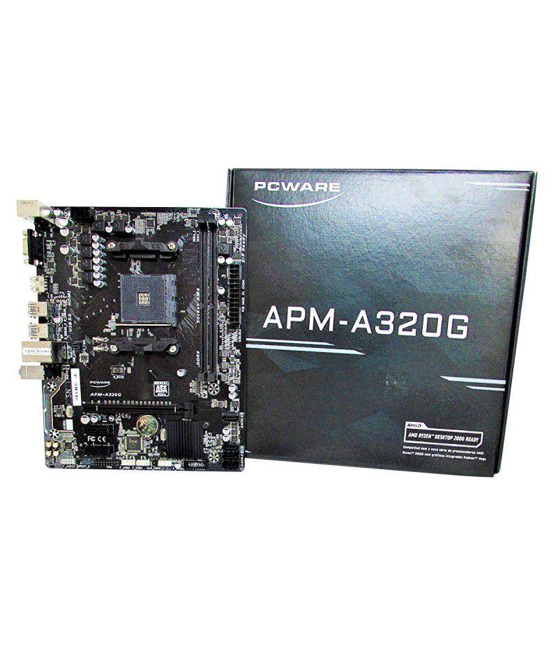 PLACA MAE PCWARE APM-A320G AM4 DDR4 VGA HDMI