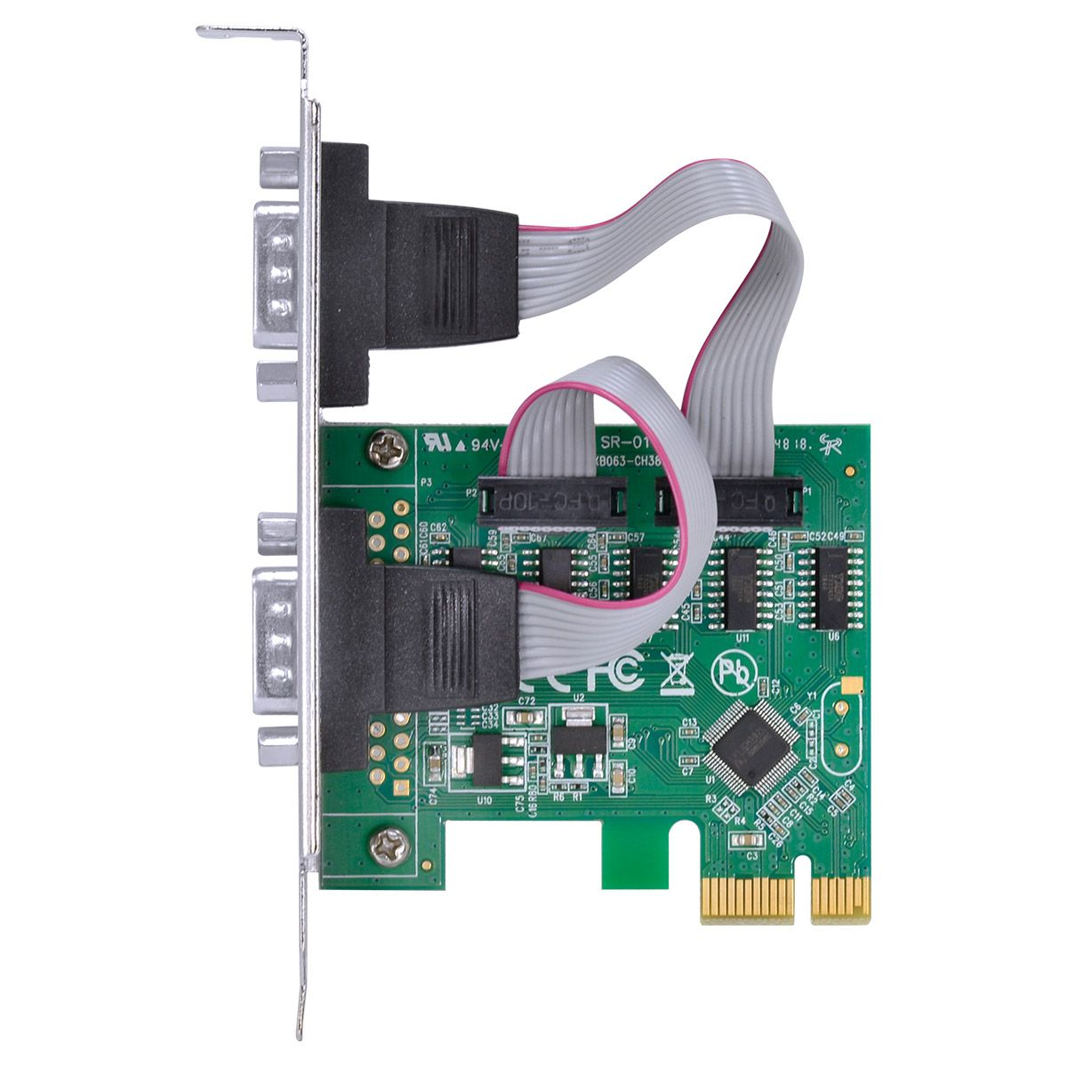 PLACA PCI-EXPRESS VINIK 2 SERIAL COM PERFIL BAIXO  P2IE-LP