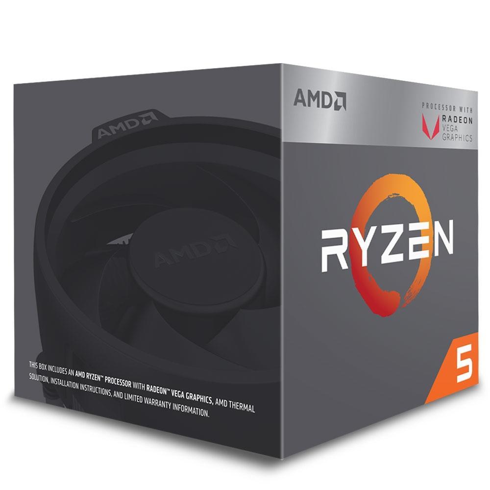 PROCESSADOR AMD RYZEN R5 2400G AM4 3.9GHZ AM4 6MB