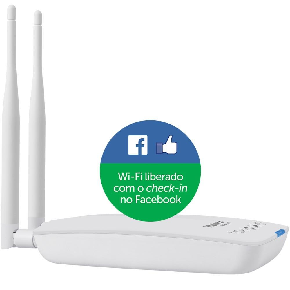 ROTEADOR INTELBRAS HOTSPOT 300 WIRELESS COM CHECK-IN NO FACEBOOK
