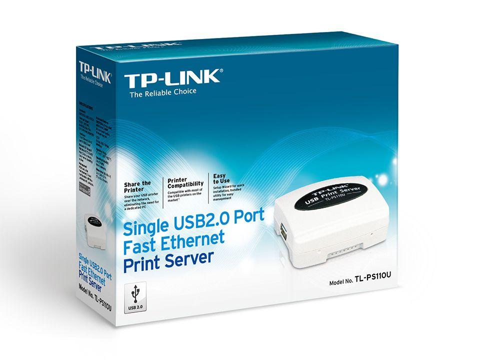 SERVIDOR DE IMPRESSÃO TP-LINK DE PORTA ÚNICA FAST ETHERNET USB 2.0 TL-PS110U