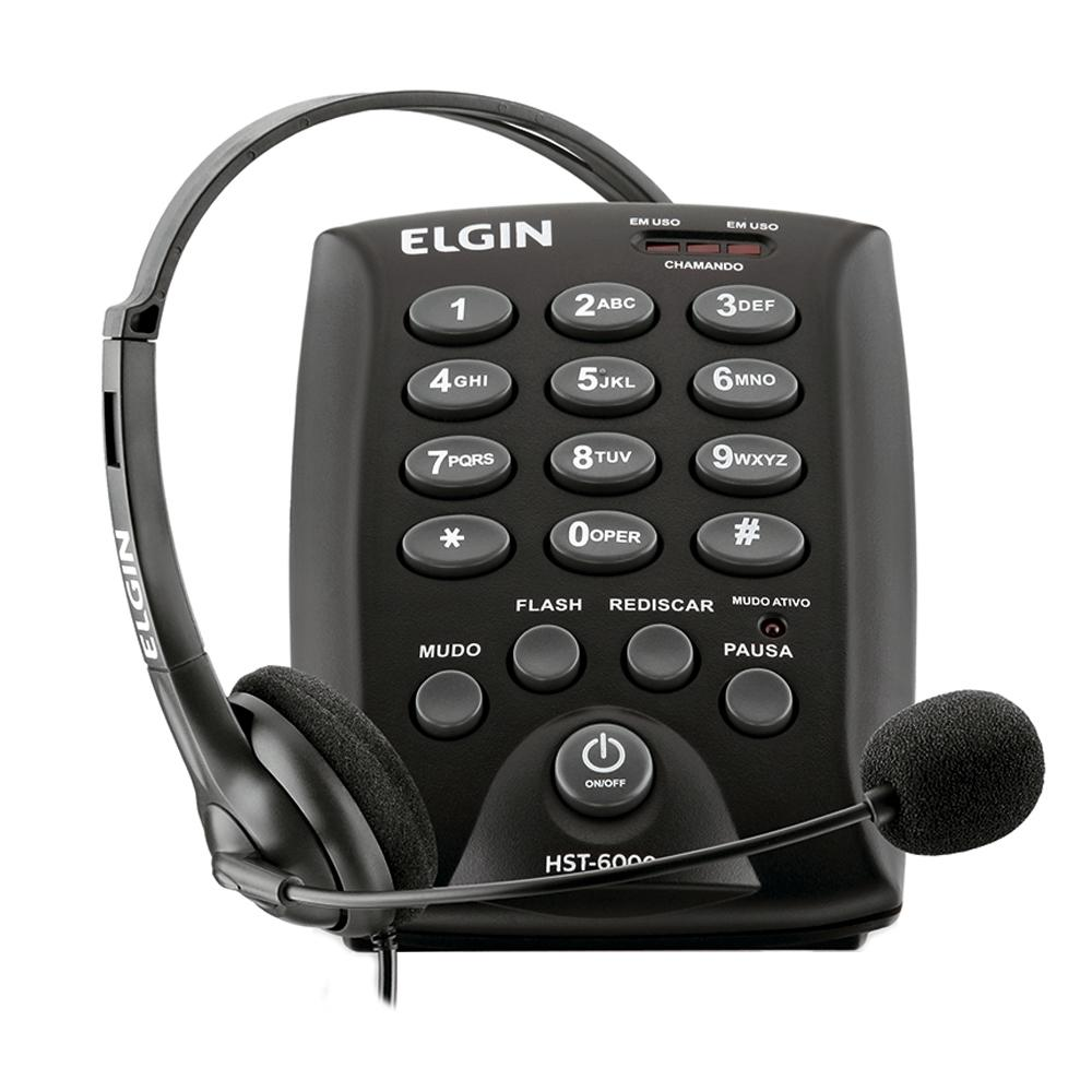 TELEFONE HEADSET ELGIN ANALOGICO HST-6000