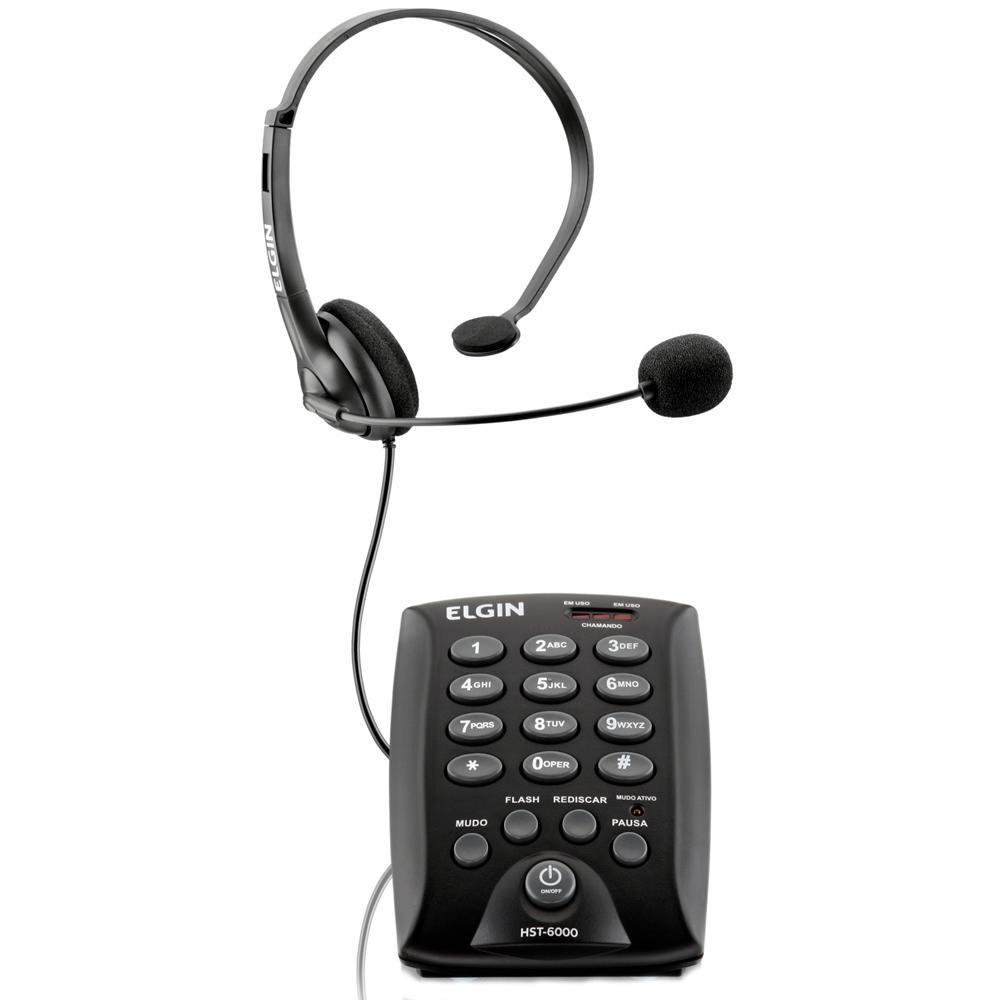 TELEFONE HEADSET ELGIN ANALOGICO HST-6000
