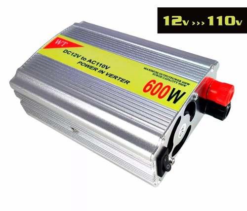 Inversor De Corrente Conversor 12v Para 110v - 127v - Potência 600w