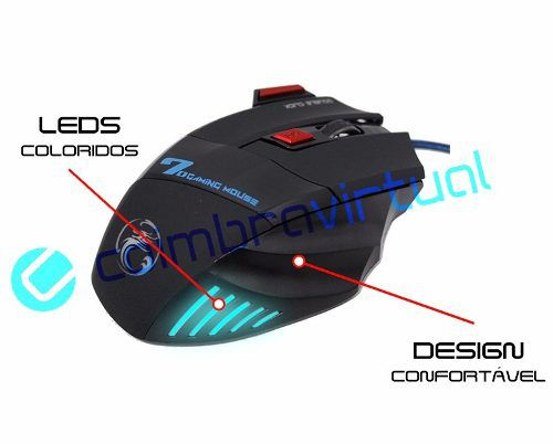 Mouse Gamer 2400dpi 7 Botões Com Fire Button X7 Estone
