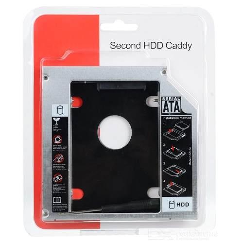 Adaptador Caddy Para Segundo Hd ou Ssd - Dvd Notebook 9,5mm Sata