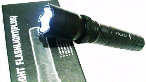 Arma De Choque Taser + Lanterna Recarregável + Coldre